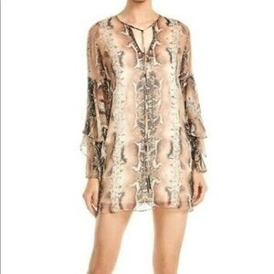 Haute hippie snake skin mini dress